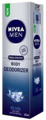 Nivea Fresh Protect Deodorizer Gas Free Ice Cool Body Spray  -  For Men, Boys