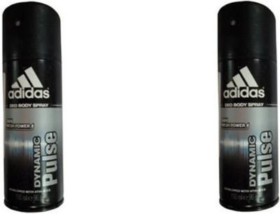 Adidas Dynamic Pulse Deodorant Spray (Pack Of 2) Body Mist  -  For Men(300 ml)