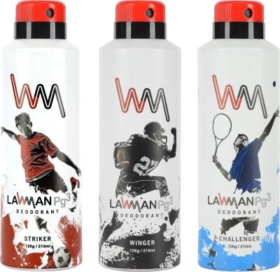 LAWMAN PG3 Striker,, Winger , Challenger Deodorant Spray  -  For Men