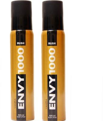 Envy 1000 2 RUSH DEO Deodorant Spray  -  For Men, Women