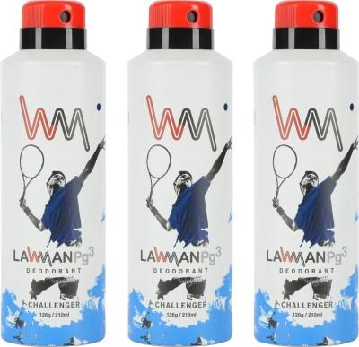 LAWMAN PG3 Challenger, Challenger, Challenger Deodorant Spray  -  For Men