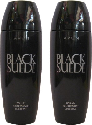 Avon Black Suede Classic Rod Combo Pack (40g Each) Deodorant Roll-on  -  For Men, Boys(80 g)