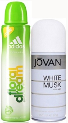Adidas Floral Dream and White Musk Body Spray - For Boys, Men, Girls, Women(300 ml)