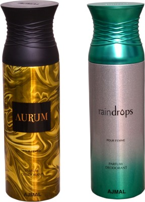 AJMAL 1 AURUM::1 RAINDROPS Deodorant Spray  -  For Men