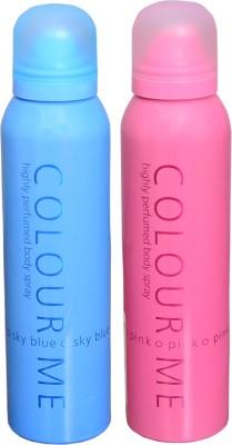 COLOR ME 1 SKY BLUE::1 PINK DEO Deodorant Spray  -  For Women