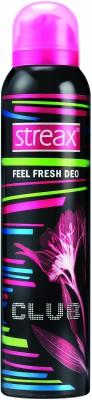 Streax Feel Fresh Club Deodorant Spray  -  For Women