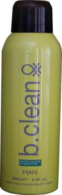 United Colors of Benetton B-CLEAN Deodorant Spray  -  For Men