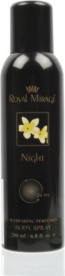 Royal Mirage Night Deodorant Spray  -  For Women, Men
