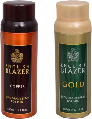 English Blazer 1 COPPER::1 GOLD Deodorant Spray  -  For Men