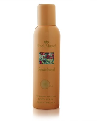 Royal Mirage Sandalwood Body ? Deodorant Spray  -