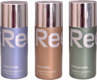 Reebok REEJUVENATE::REEMYSTIFY::REEHYPNOTISE Deodorant Spray  -  For Men & Women(450 ml) at flipkart