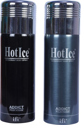 Hot Ice Addict Deos Combo Deodorant Spray  -  For Men, Women