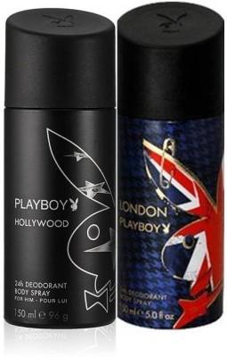 Playboy Hollywood+London Deodorant Spray - For Boys, Men(150 ml)