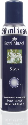 Royal Mirage Silver Deodorant Spray  -  For Women