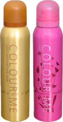 COLOR ME 1 GOLD::1 FLOWERS DEO Deodorant Spray  -  For Men