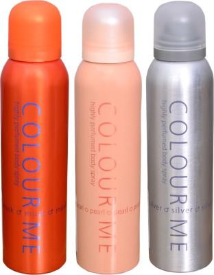 COLOR ME 1 MUSK::1 PEARL::1 SILVER DEO Deodorant Spray  -  For Men