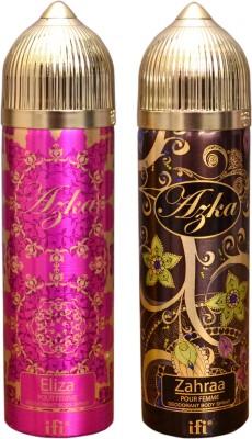 AZKA 1 ELIZA::1 ZAHRAA Deodorant Spray  -  For Men, Women