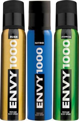 ENVY 1000 Force, Nitro & Rush Deo Combo (Pack of 3) Body Spray  -  For Men