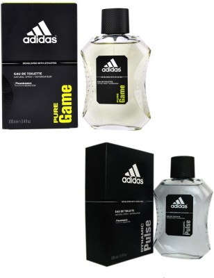 Adidas The EDT Combo's Pure Game & Dynamic Pulse Body Spray  -  For Boys, Men