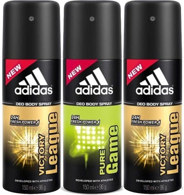 Adidas Victory League Pure Game Body Spray  -  For Men