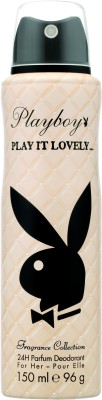 Playboy 2888352-PLAYBOY Play It Lovely Woman Deo 150ml(2888352) Body Spray - For Women(150 ml)