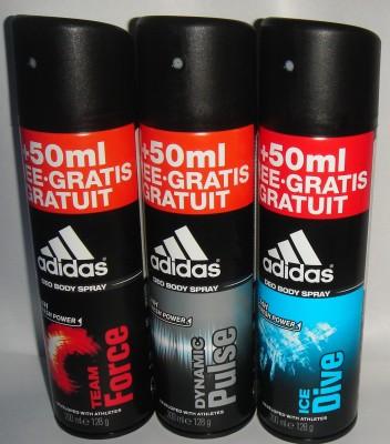 Adidas Set (Set of 3) 200ml Deodorant Spray  -  For Men