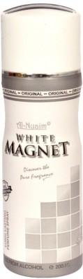 Al-Nuaim White Magnet Body Spray  -  For Men, Women