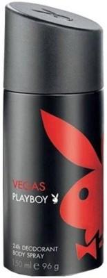 Playboy Vegas 24H Deodorant Spray - For Men(150 ml)