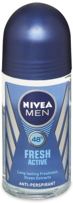 Nivea Fresh Active Anti Perspirant (Imported) Deodorant Roll-on  -  For Men(50 ml)