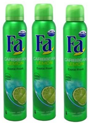 FA Caribben Lemon Deodorant Spray  -  For Girls, Men
