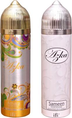 AZKA 1 AMARA::1 SAMEEN Deodorant Spray  -  For Men, Women