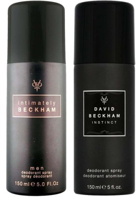 David Beckham Instinct and Intimately Deodorant Spray  -  For Men