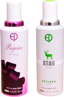 ESTIARA 1 REJOICE::1 STAG WHITE Deodorant Spray  -  For Men