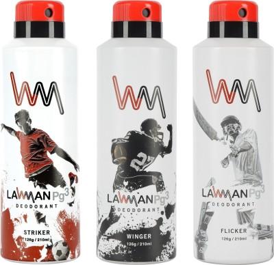 LAWMAN PG3 Striker,, Winger , Flicker Deodorant Spray  -  For Men