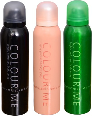 COLOR ME 1 PEARL::1 GREEN::1 BLACK DEO Deodorant Spray  -  For Men
