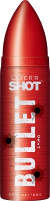 Layerr Shot Bullet Ammo Deodorant Spray - For Men, Boys(120 ml)