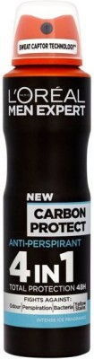 L,Oreal Paris Paris Carbon Protect Deodorant Spray  -  For Men
