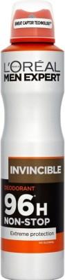 LOreal Paris Expert 96H INVINCIBLE Non Stop Protection No Alcohol Deodorant Spray - For Boys, Men(249 ml)