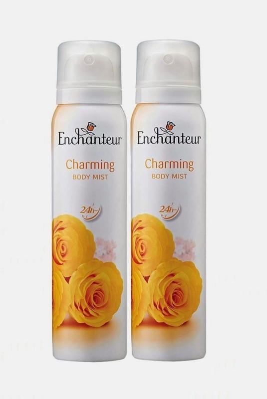 Enchanteur charming mist combo-2 Body Mist  -  For Women, Girls(150 ml)
