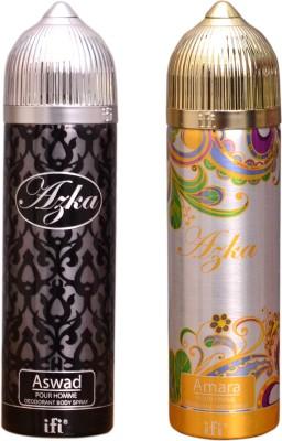 AZKA 1 ASWAD::1 AMARA Deodorant Spray  -  For Men, Women