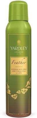 Yardley London Feather Deodorant Spray  -  For Girls, Women