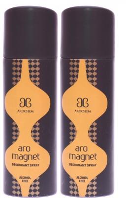 Arochem 2 x Magnet Deodorant Spray  -  For Men, Women
