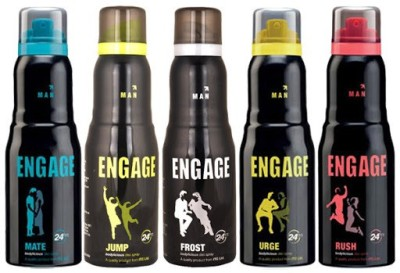 Engage Combo Set Of 5 Deodorant Spray  -  For Men