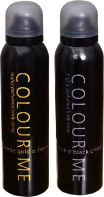 COLOR ME 1 FEMME GOLD::1 BLACK DEO Deodorant Spray  -  For Men