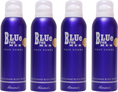 Rasasi 4 Blue For Men Deodorant Spray  -  For Men