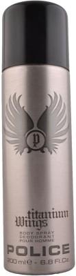 Police Titanium Wings Deodorant Spray  -  For Men