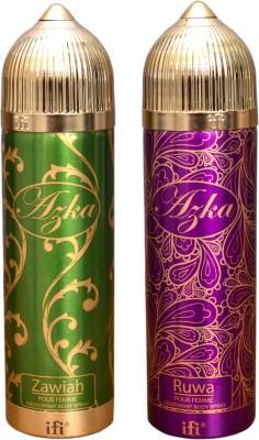 AZKA 1 ZAWIAH::1 RUWA Deodorant Spray  -  For Men, Women