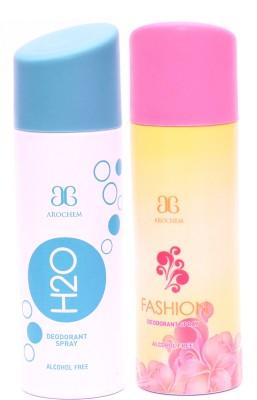 Arochem H2O Fashion Deodorant Spray  -  For Men, Women