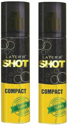 Layer,r Shot Compact Turbo Body spray (Pack Of 2) Body Spray  -  For Men