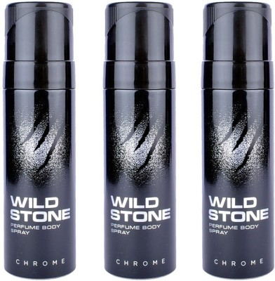 Wild Stone Chrome Body Spray  -  For Men, Boys